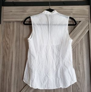 Express Tops - EXPRESS Dressy Button up Tank - white